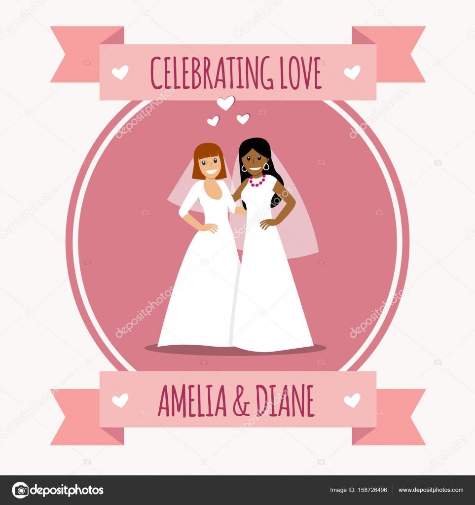 Dos novias en vestidos blancos. Boda gay — Archivo Imágenes ...