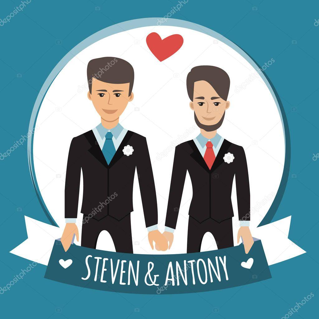 © Persone Gay Lenoleum162892394 Stock MatrimonioVettoriali TlK1J3Fc
