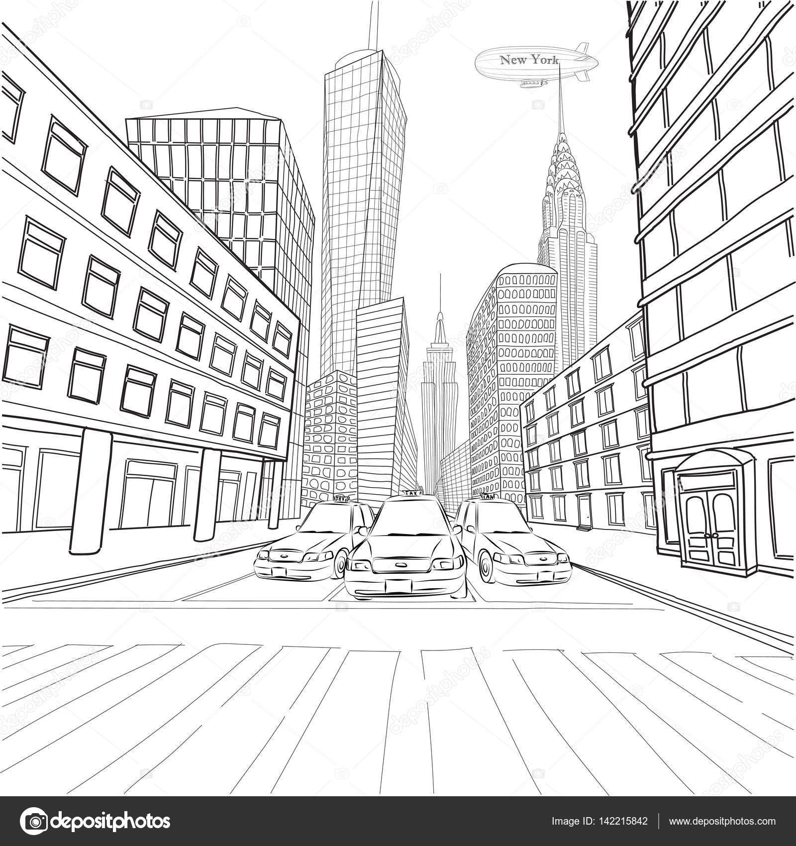 paisaje de la ciudad de londres nueva york edificios empire state chrysler building u vector de