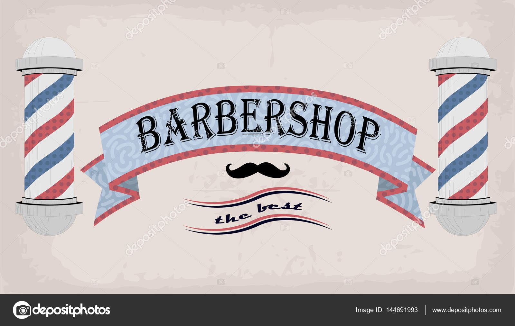 Fáscia de tabuleta do cartaz logotipo sinal ou telha de barbeiro,  cabeleireiro, cabeleireiro, barbearia inscrição retrô vintage. Frente de  vector vertical ...
