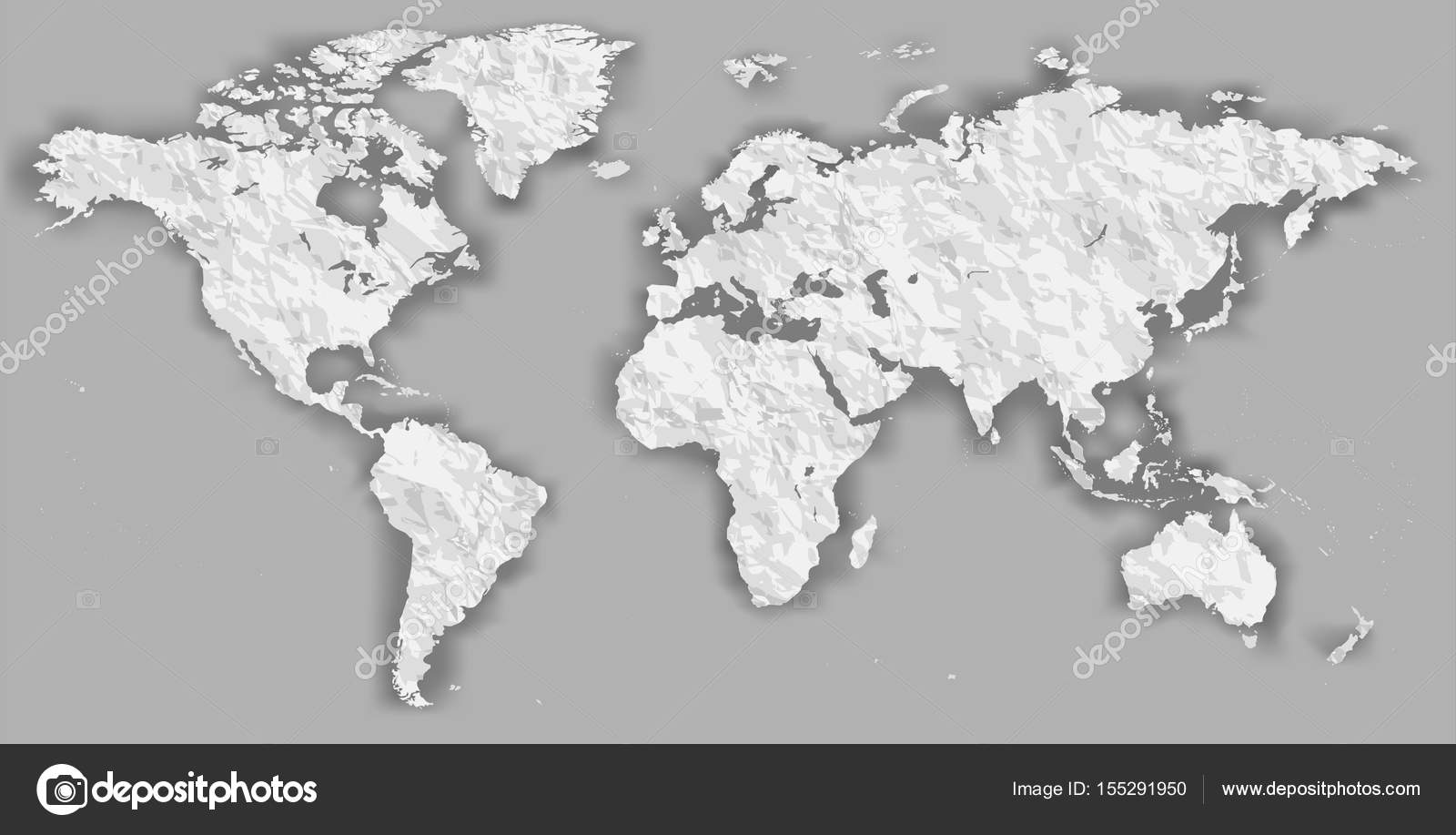Vector blank torn crumpled paper cut out white silhouette similar vector blank torn crumpled paper cut out white silhouette similar world map monochrome worldmap template website design infographics detailed flat earth gumiabroncs Image collections