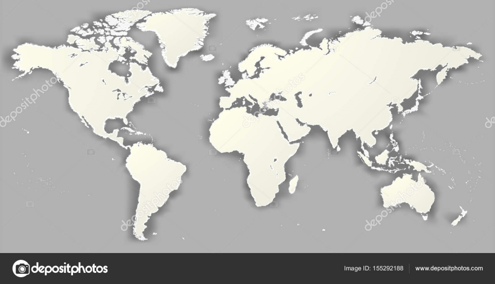 vector blank torn silhouette world map monochrome worldmap template website design info graphics detailed modern
