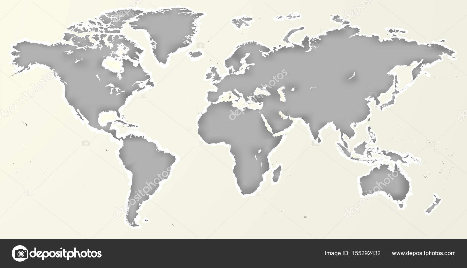 Vector blank grey paper cut out similar world map isolated on vector blank grey paper cut out similar world map isolated on white background monochrome worldmap gumiabroncs Images