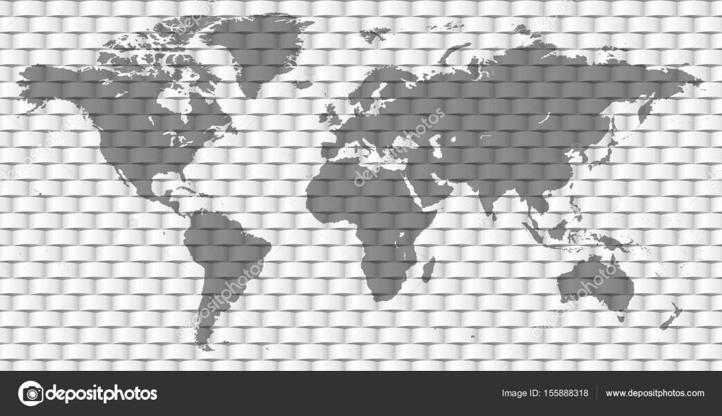 Vector blank dark grey intertwined paper stripes bound pattern monochrome worldmap template website design cover reports infographics beautiful world map illustration vector by bugege gumiabroncs Image collections