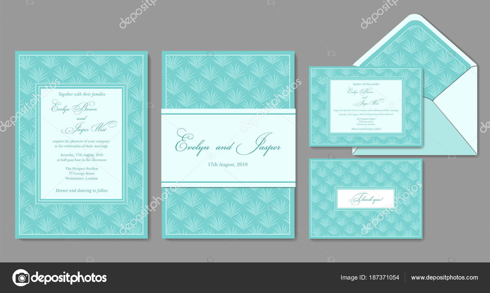 Wedding invite, envelope, rsvp, holiday card. Design with Kentia ...