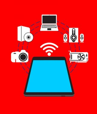 Smartphone. Electronic device icons