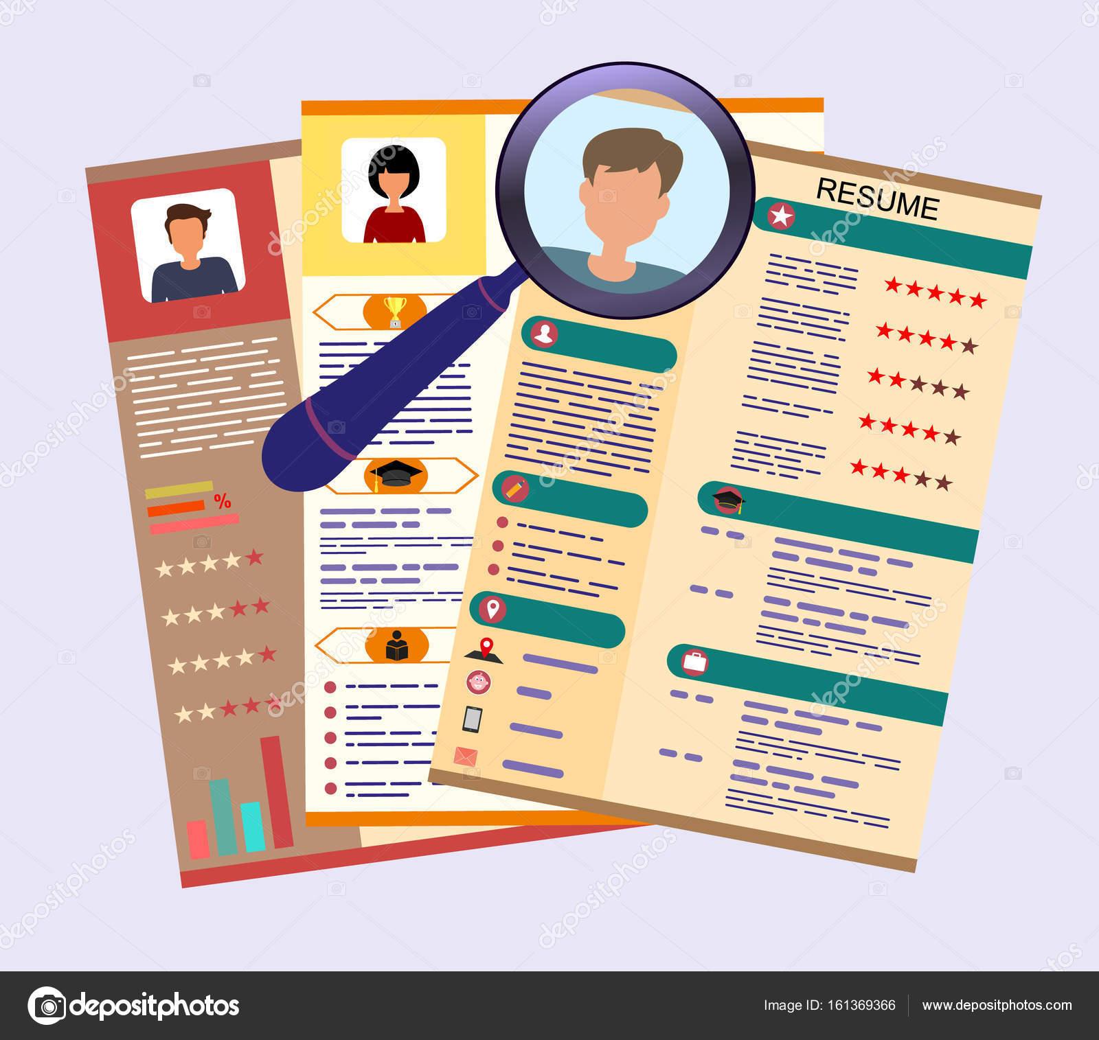 cv  resume template design with profile photo cv icon   u2014 stock vector  u00a9 dve