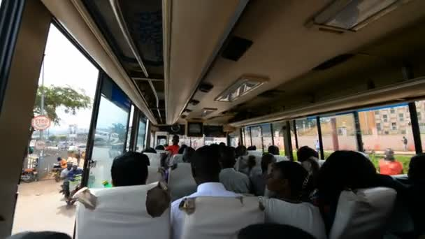 Traveling by local bus in the Kampala