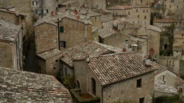 Krásné středověké město v Toskánsku