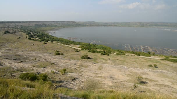 salt production scenery around the Kazinga Channel
