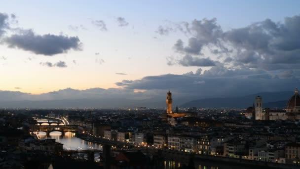 Pohled na západ slunce Florencie