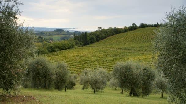 toskana landschaft in der nähe von san gimignano