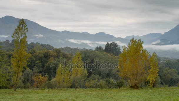 Landscape near of the Barga in Italy