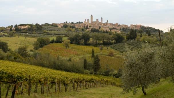 středověké město San Gimignano v Itálii
