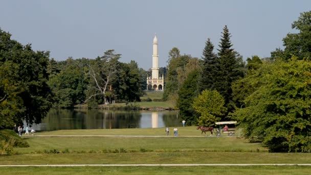 Krásný velký zelený park v České republice