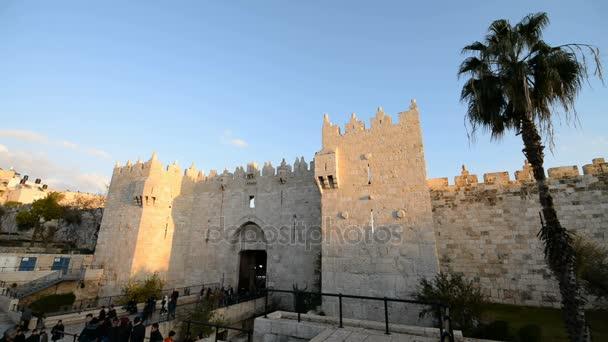 Celkový pohled od damašské brány v Jeruzalémě