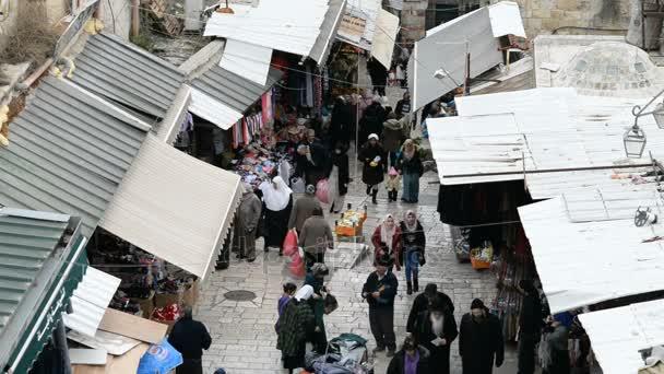 Muslimské čtvrti pohled od damašské brány v Jeruzalémě