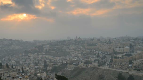 Dóm skály pohledu od Olivové hoře v Jeruzalémě
