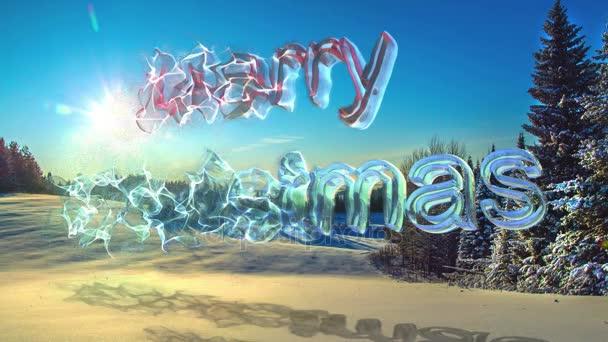 Entstehung Von Weihnachten.Cinemagramm Schleife Video Die Entstehung Von Transparenten Zahlen Frohe Weihnachten Auf Dem Hintergrund Einer Wunderschönen Winterlandschaft