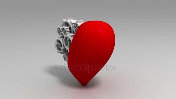 Heart and Gear Wheels Loop