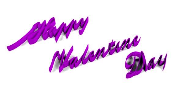 Boldog Valentin-napot a felirat Happy Valentin-nap írásos izzó szalag alfa csatornák