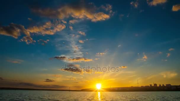 Sunset in the bay, Time-lapse photography, Cinemagraph, night sky, video loop,