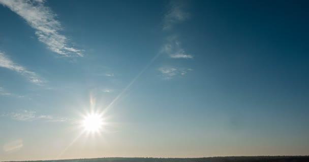 beautiful cloud space weather beautiful blue sky glow cloud background. Sky 4K clouds weather nature cloud blue Blue sky with clouds 4K sun Time lapse clouds 4k rolling puffy cloud movie