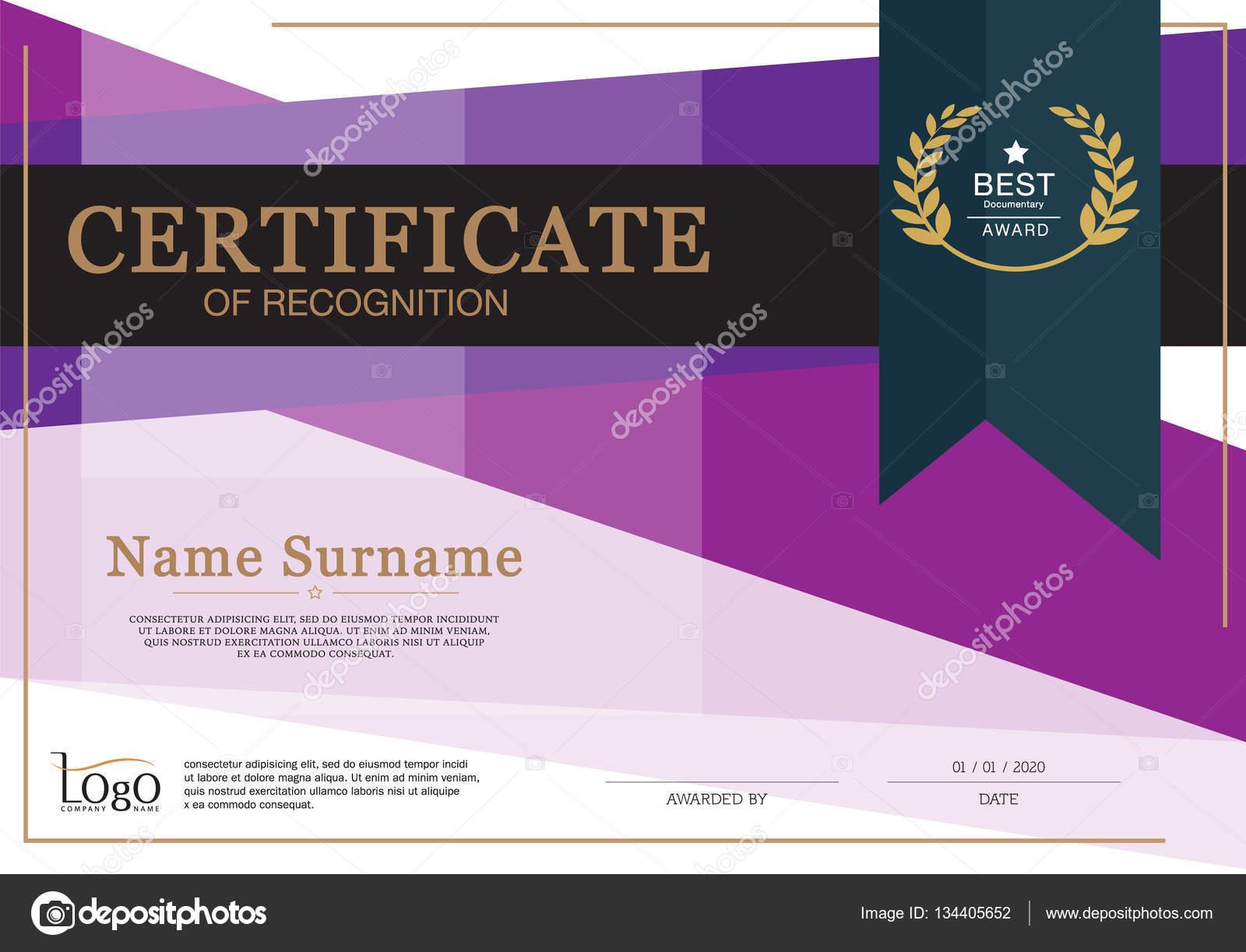 Certificado de logro marco diseño plantilla Premium diseño — Vector ...