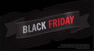 Black Friday Sales, Ribbon Special Offer - Black Friday banner. Icon Design Template Vector illustration