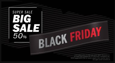 Black Friday Sales, Ribbon Special Offer - Black Friday banner. Icon Design Template Vector illustration