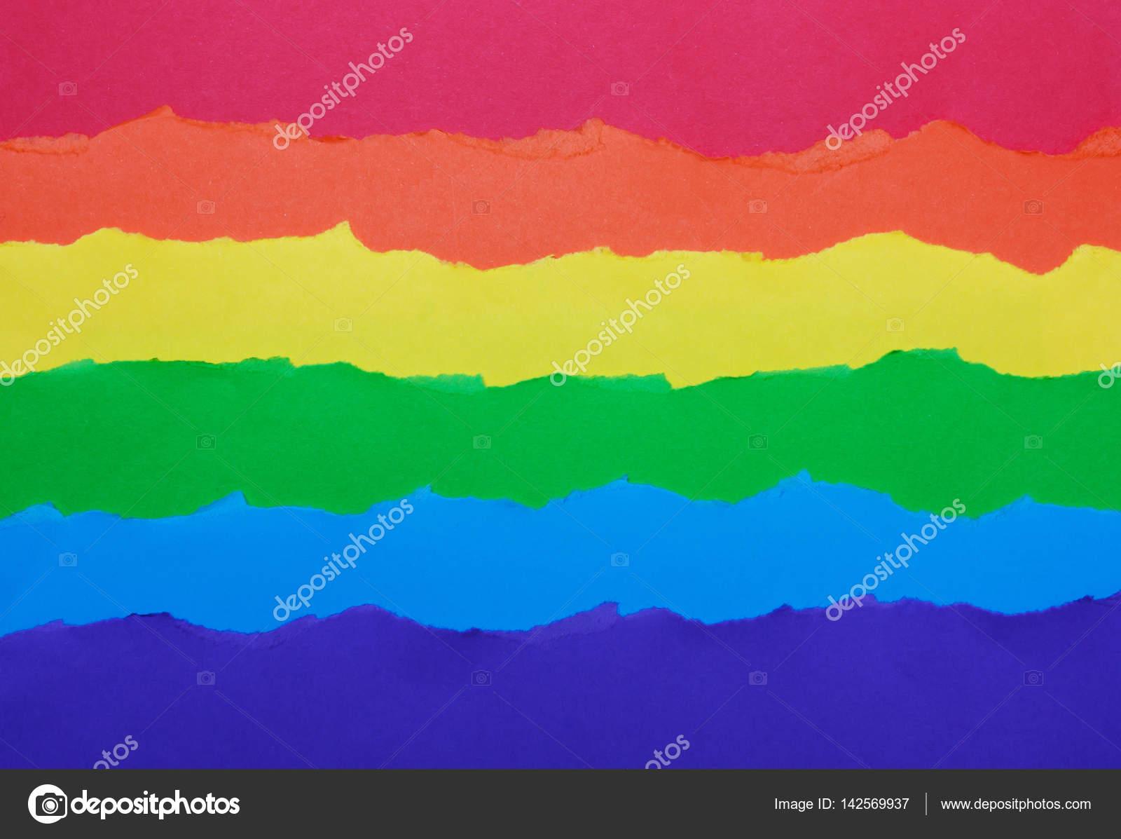 Rainbow Flag Made Of Paper Lgbt Symbol Stock Photo Alexmia