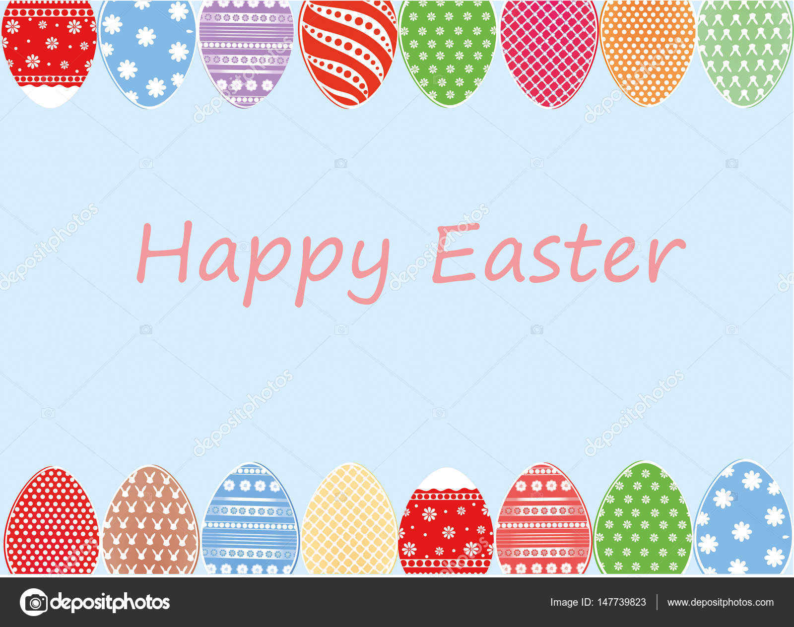 Easter colored eggs with a pattern greeting card for the holiday easter colored eggs with a pattern greeting card for the holiday stock vector kristyandbryce Images