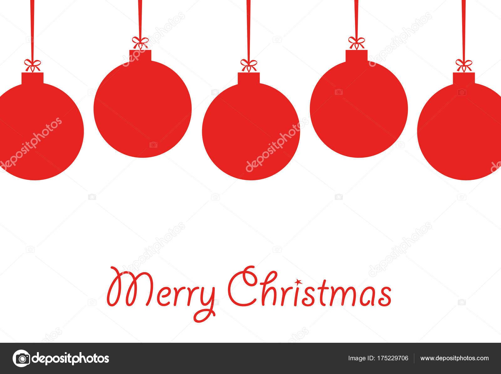 Imagenes Lazos De Navidad.Formas De Lazos Navidenos Cinco Bolas De Navidad Rojo Con