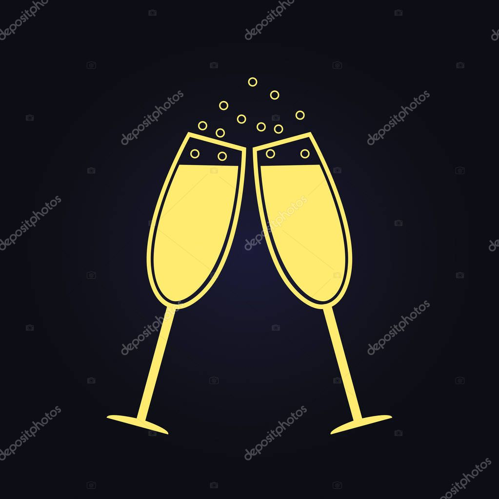 champagne flute cartoon vector images 43 - 612×611