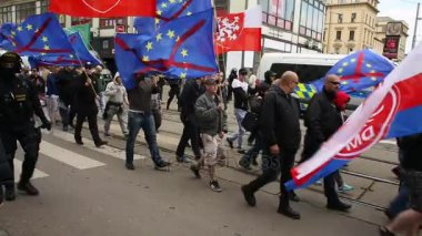 March of radical extremists against European Union
