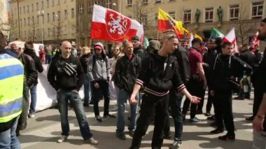 Demonstration of radical workers' party extremists, against the European Union, EU