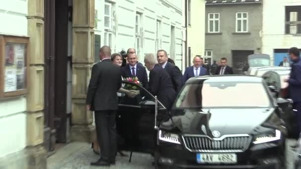 President of the Czech Republic Milos Zeman visiting Mohelnice in the Olomouc Region, the performance plus a greeting