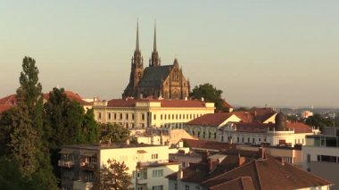 The Cathedral of Saints Peter and Paul Petrov, Roman Catholic, Baroque, Gothic Revival, town Brno, in the Czech Republic city, architect August Kirstein, Europe