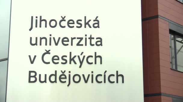 Brno, Česká republika, ledna 18, 2016: podepsat prapor University Jižní Bohemiain České Budějovice, moderní vzdělávací instituce a centrum vědy a výzkumu