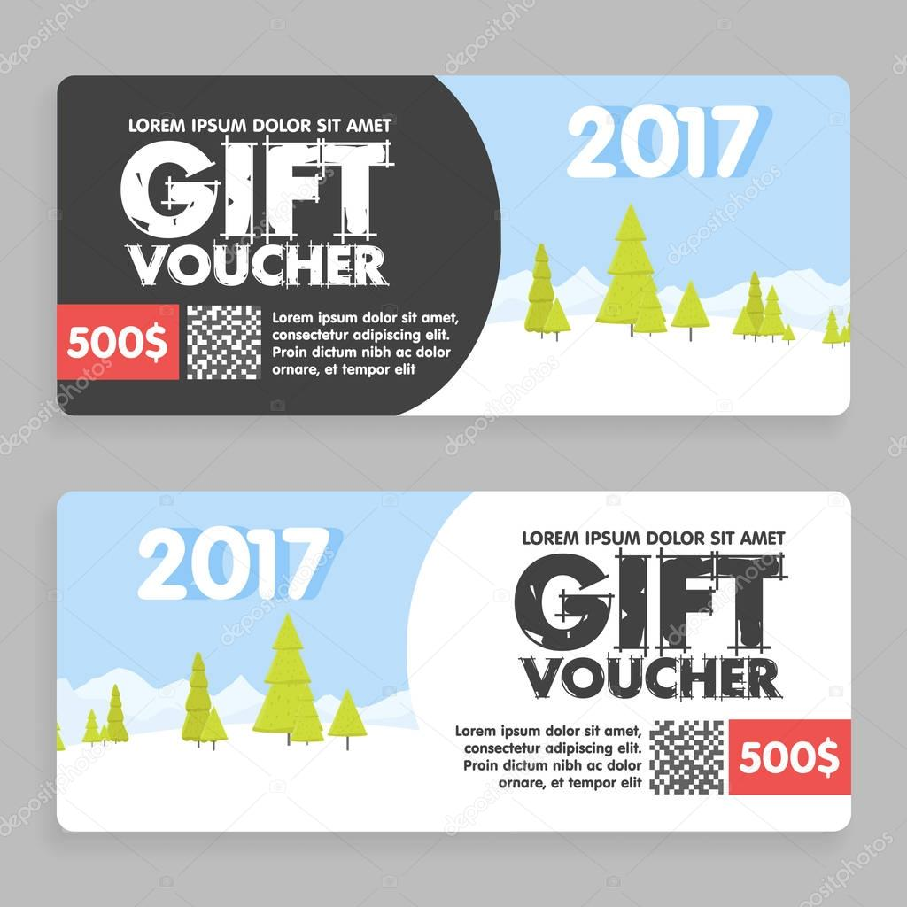 christmas and new year gift voucher certificate coupon template. can ...