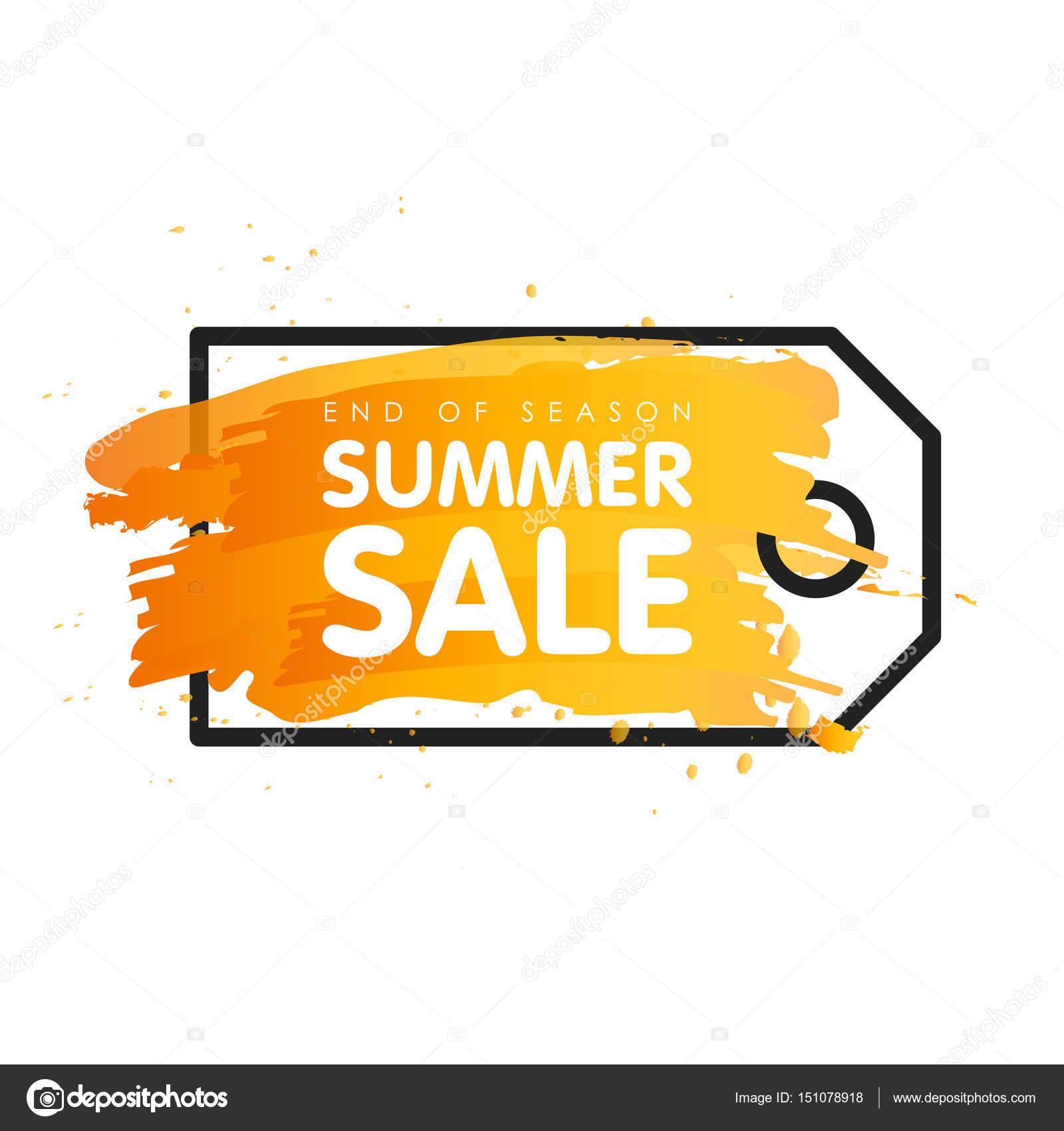 夏のセール サイン値札ラベル ベクトル イラスト バナーの季節の終わり