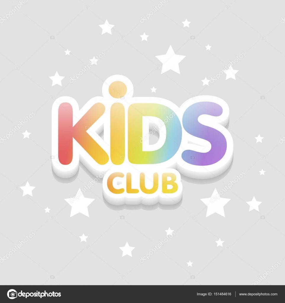 Kids Club Spaß 3d Regenbogen Buchstaben In Hellem Hintergrund