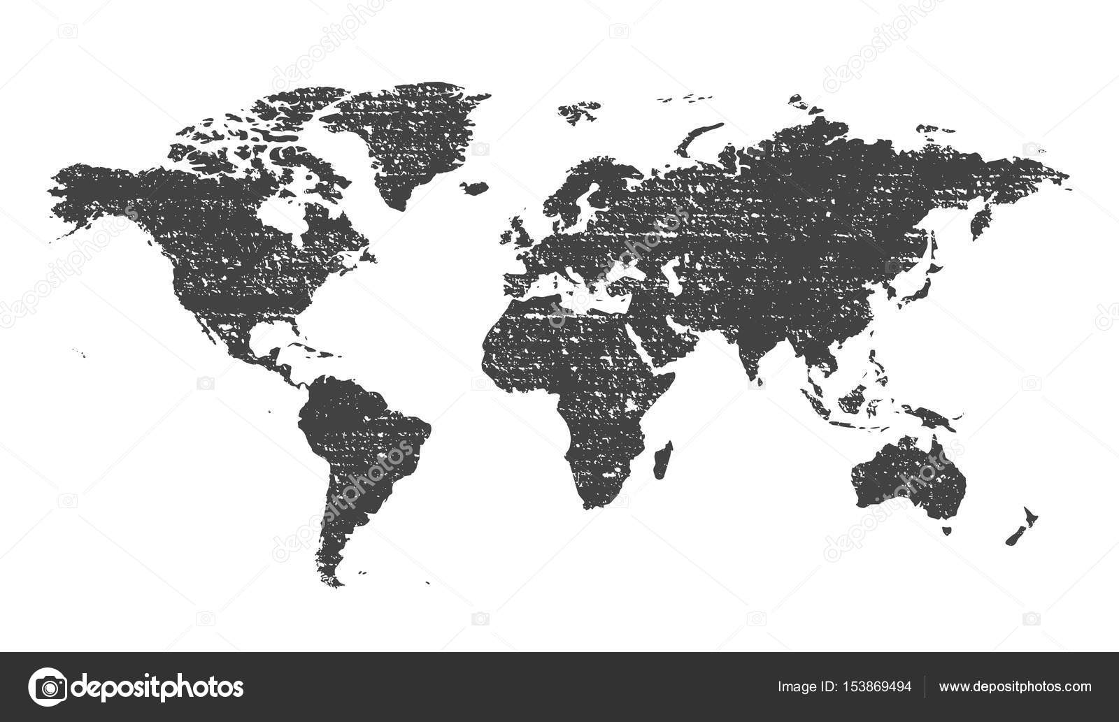 Grunge texture gray world map vector illustration stock vector grunge texture gray world map vector illustration stock vector gumiabroncs Image collections