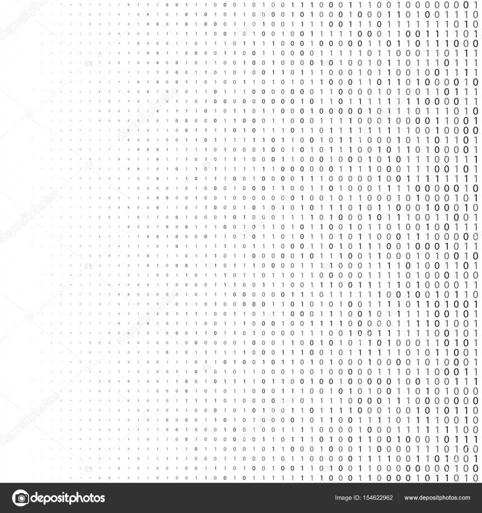 Binary Code Halftone Background Zero And One Abstract Symbols