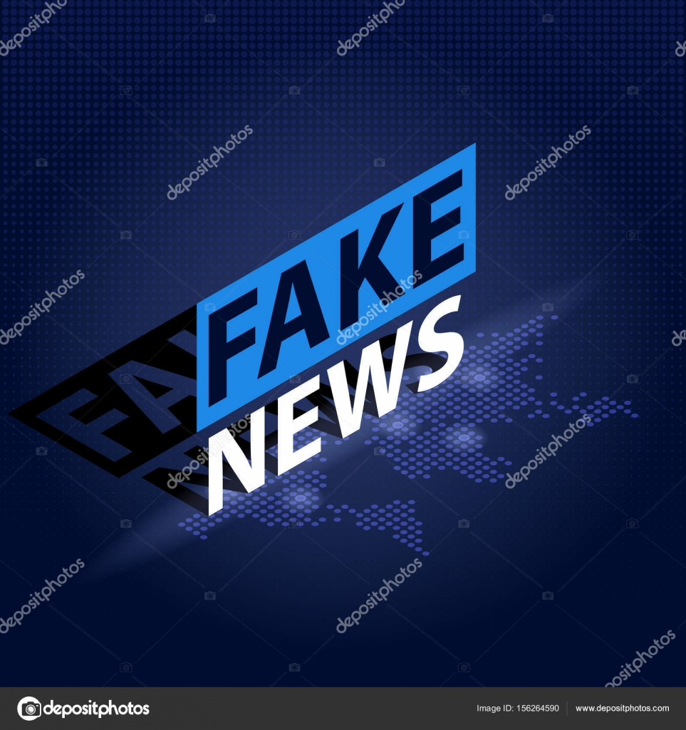 Fake news headline in blue dotted world map background isometric fake news headline in blue dotted world map background isometric vector illustration stock vector gumiabroncs Image collections