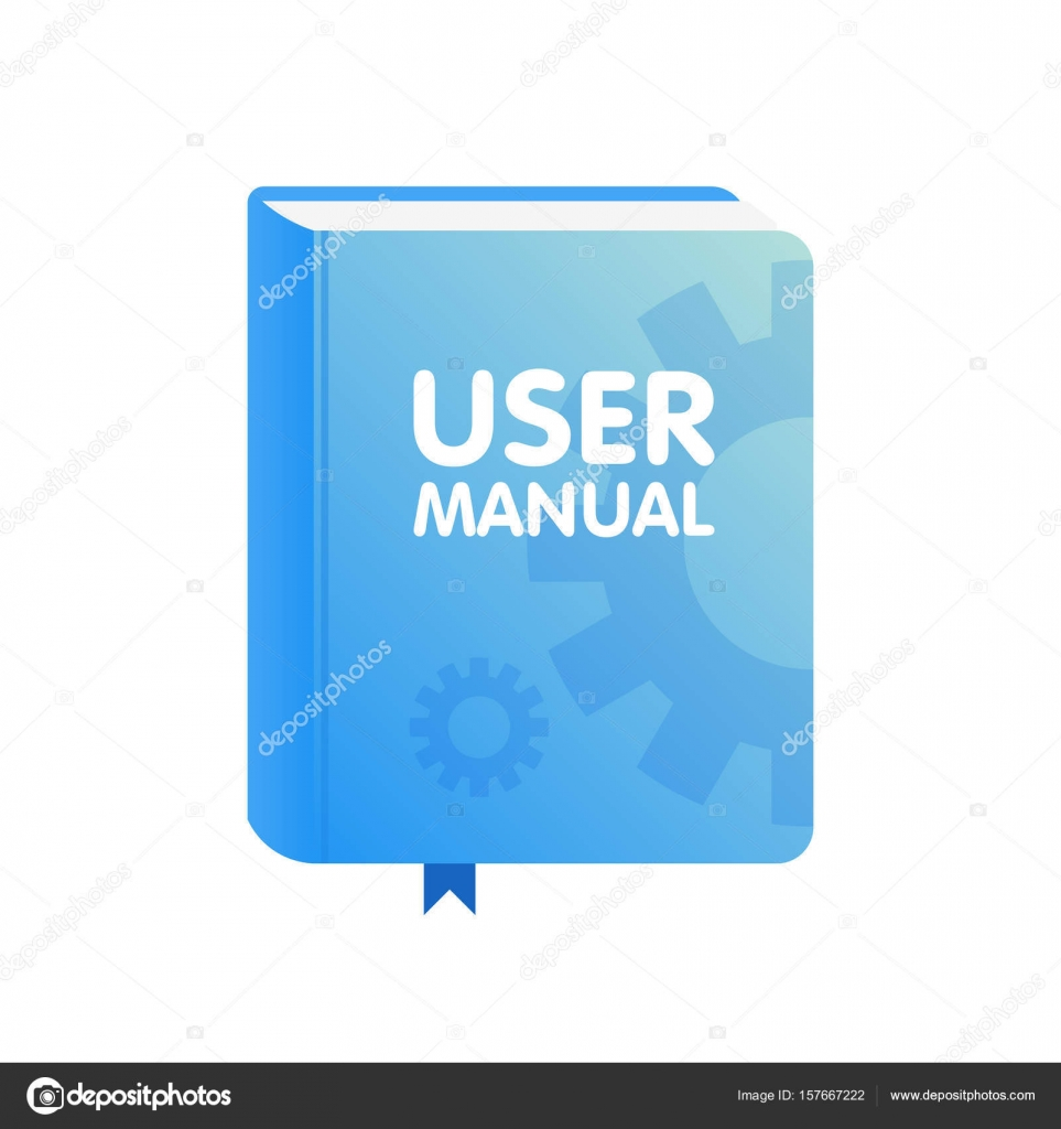 User manual book download icon flat vector illustration for Vector canape user manual