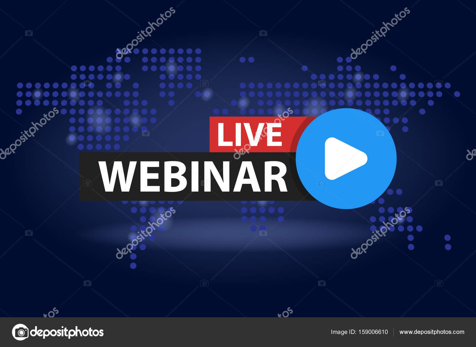 Free webinar play online button in blue dark world map background free webinar play online button in blue dark world map background vector illustration stock vector gumiabroncs Choice Image