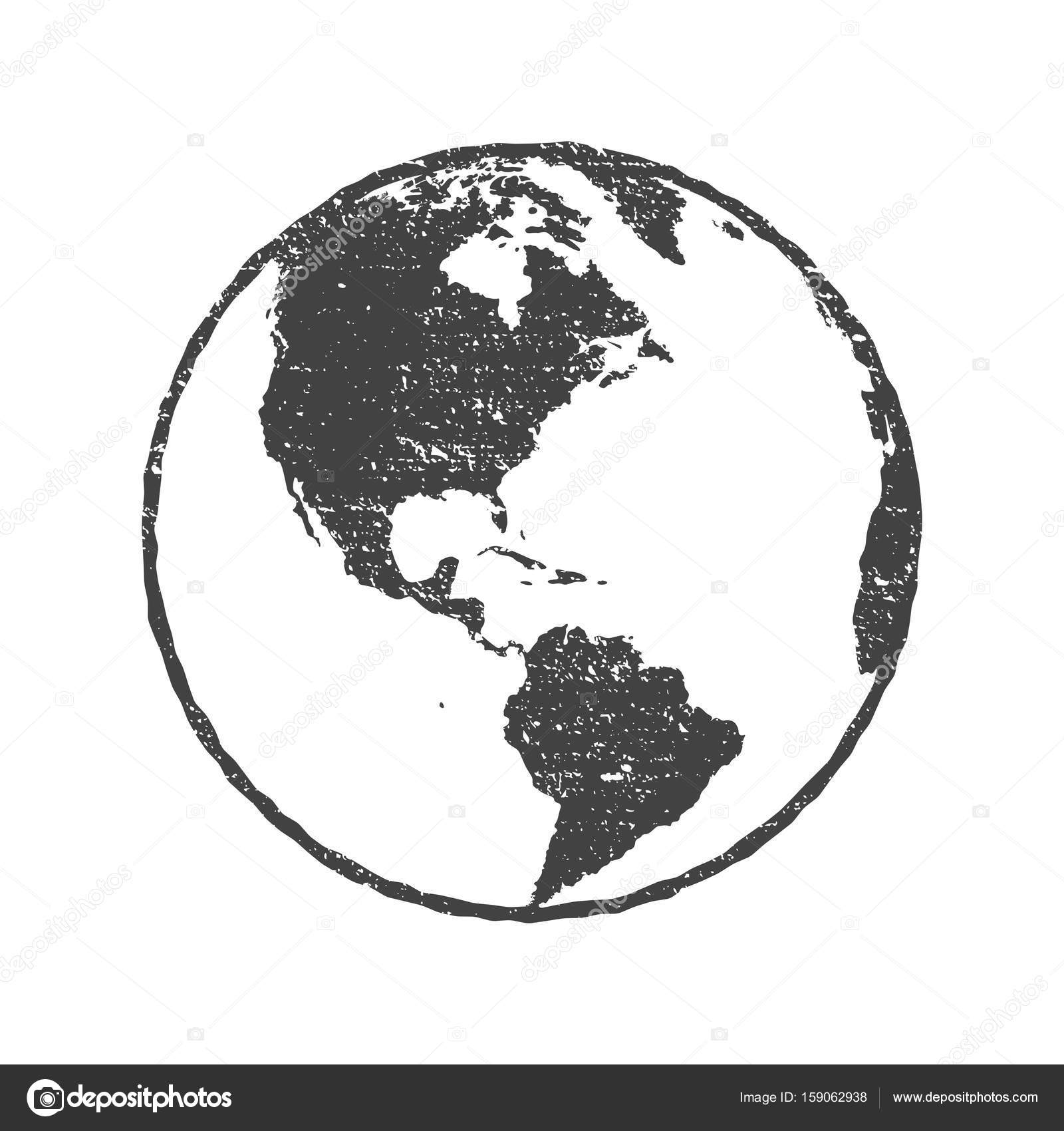 Grunge texture gray world map globe transparent vector illustration grunge texture gray world map globe transparent vector illustration stock vector gumiabroncs Images