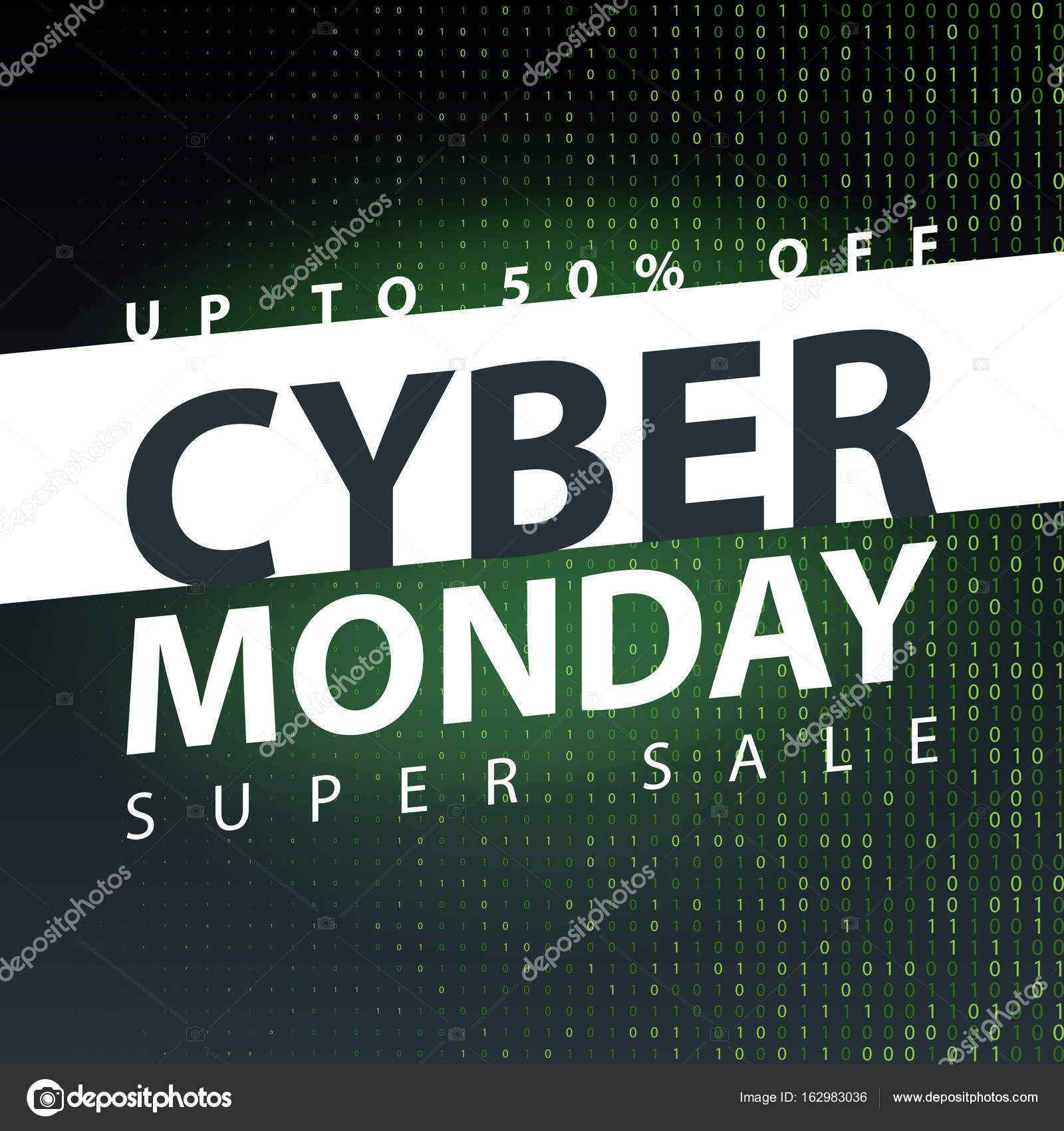 Cyber Monday Super Sale Poster Clearance Mega Discount Flyer