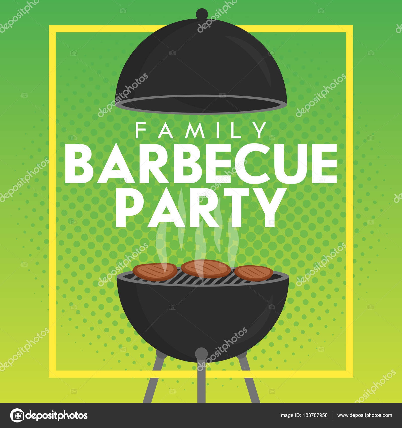 mod le de vecteur belle barbecue party invitation conception de l affiche barbecue barbecue. Black Bedroom Furniture Sets. Home Design Ideas